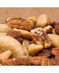 Golden Goodness Mix – Toasted and Salted Fancy Pecans, Cashews, Brazil Nuts, Hazel Nuts, and Almonds